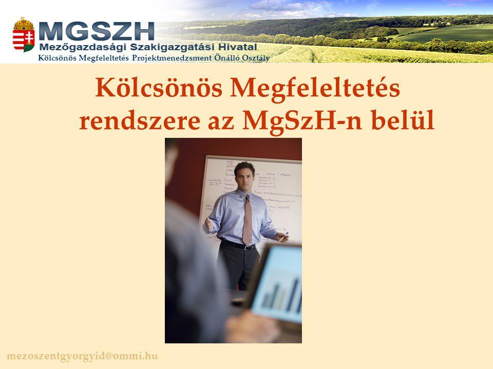 Kölcsönös Megfeleltetés rendszere az MgSzH-n belül