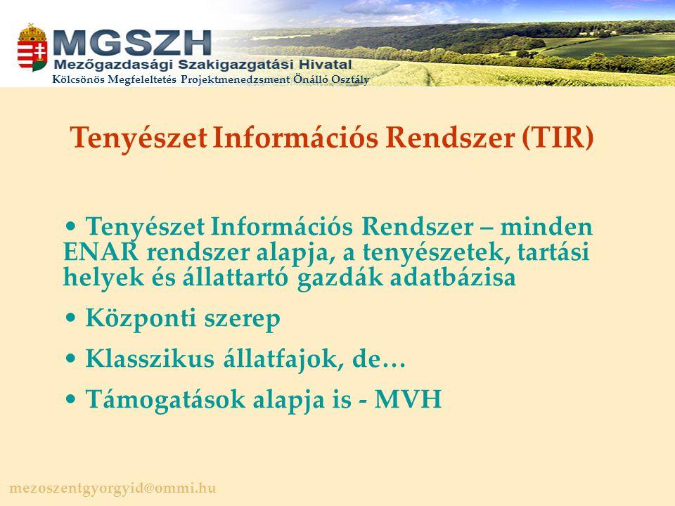 Tenyészet Információs Rendszer (TIR)