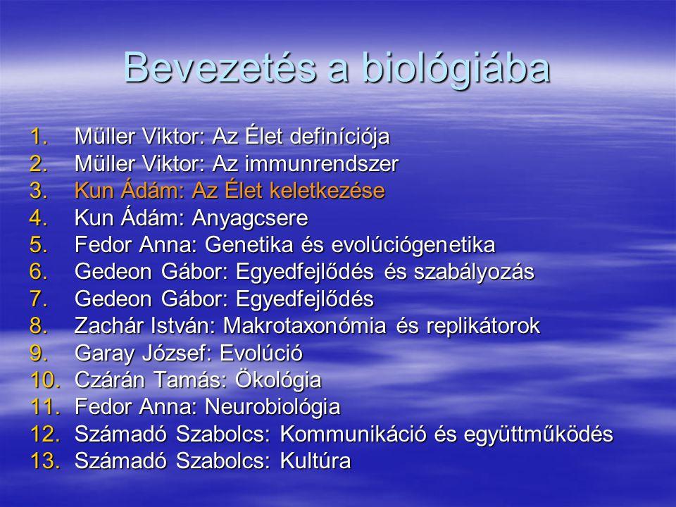 Bevezetés a biológiába