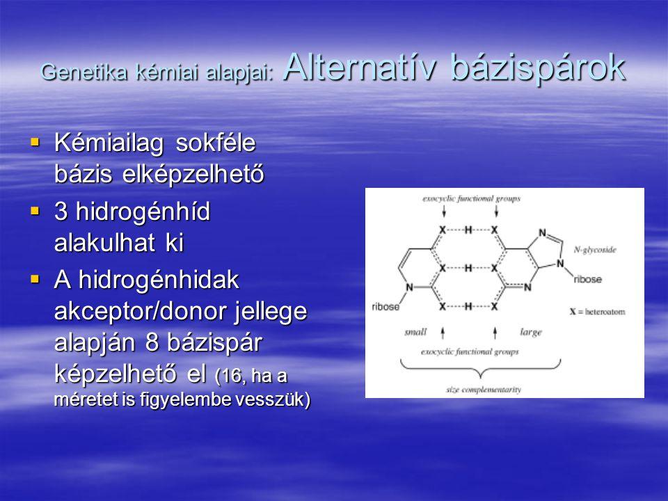 Genetika kémiai alapjai: Alternatív bázispárok