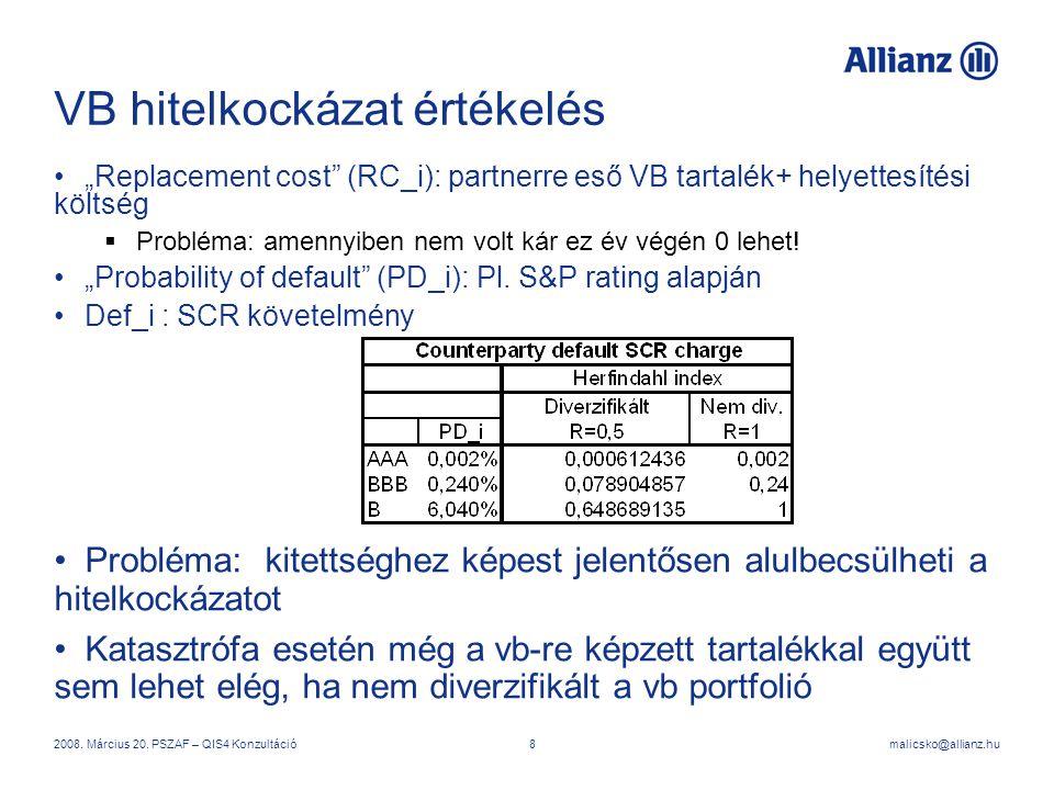 VB hitelkockázat értékelés
