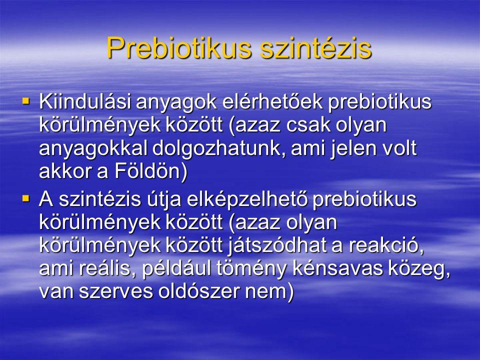 Prebiotikus szintézis