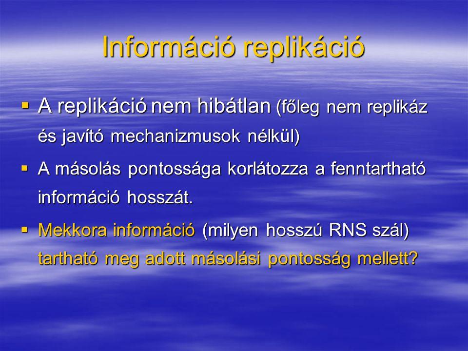 Információ replikáció