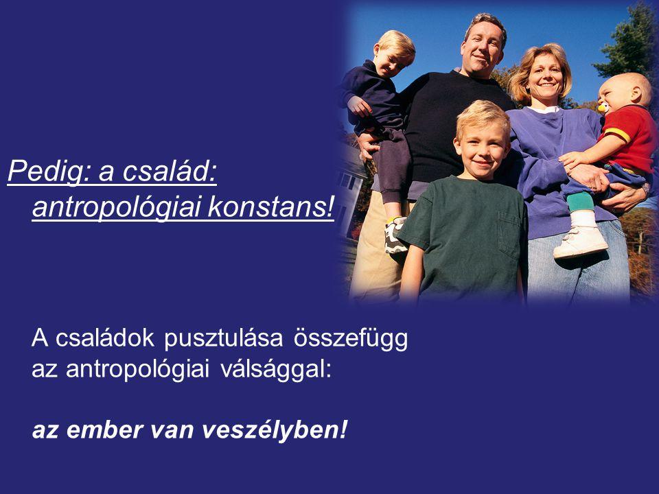 Pedig: a család: antropológiai konstans!