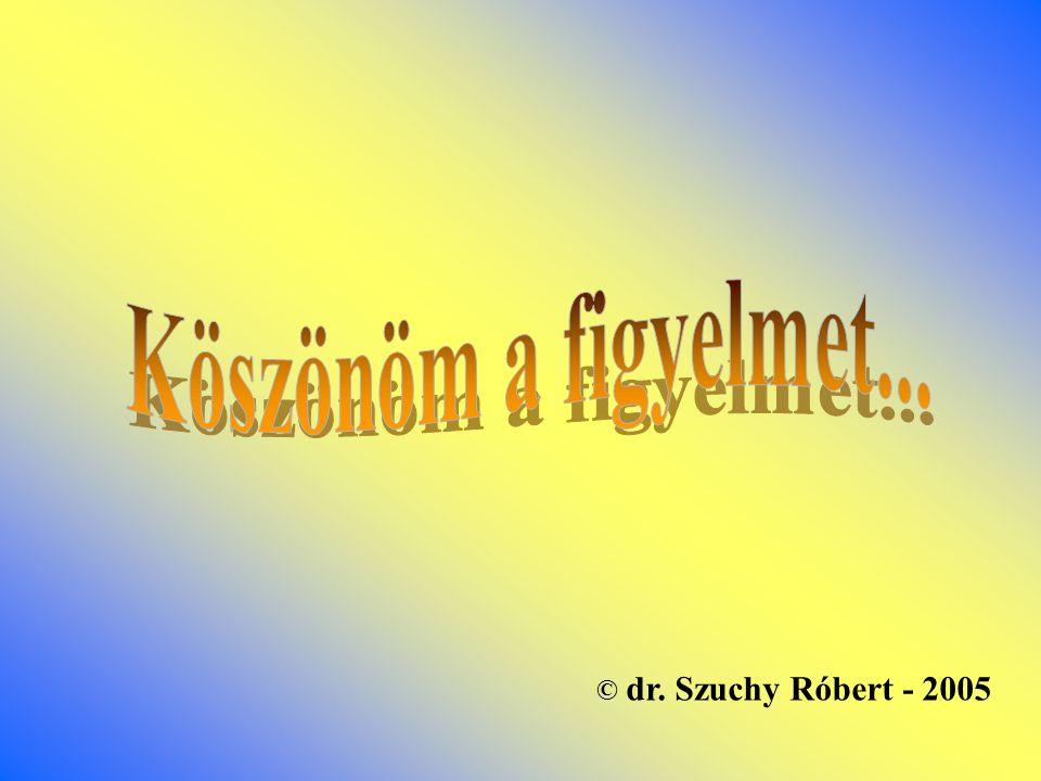 Köszönöm a figyelmet... © dr. Szuchy Róbert - 2005