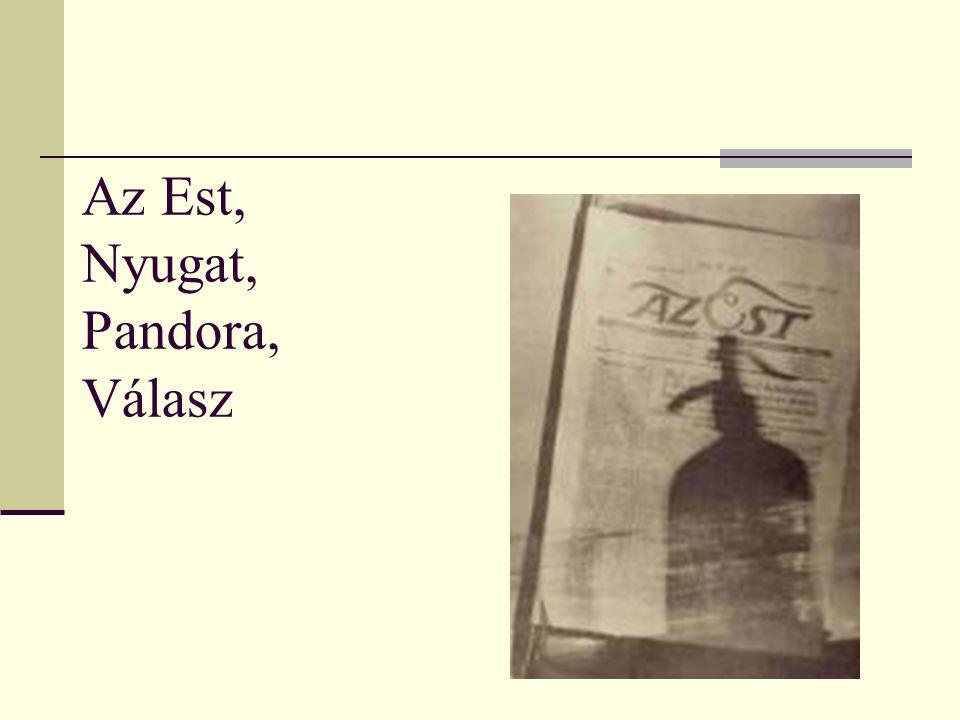 Az Est, Nyugat, Pandora, Válasz