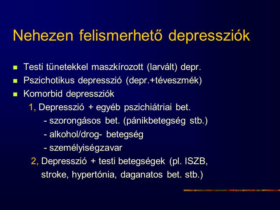 Nehezen felismerhető depressziók
