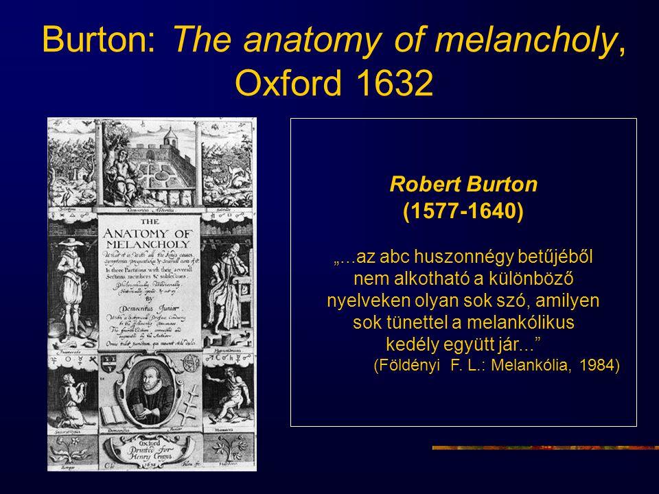 Burton: The anatomy of melancholy, Oxford 1632