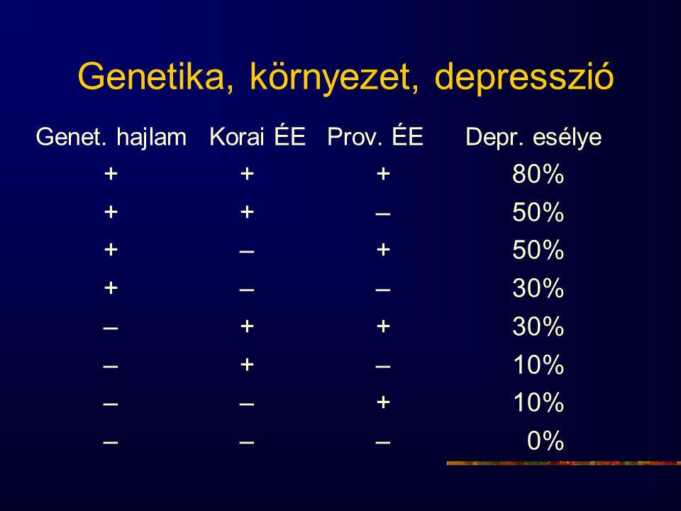 Genetika, környezet, depresszió