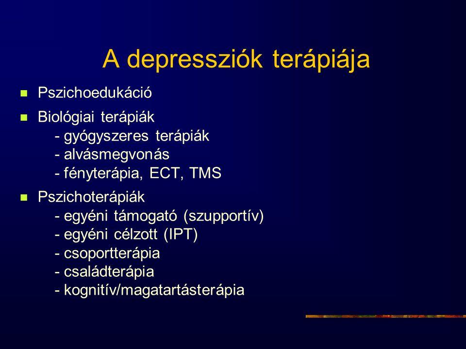 A depressziók terápiája