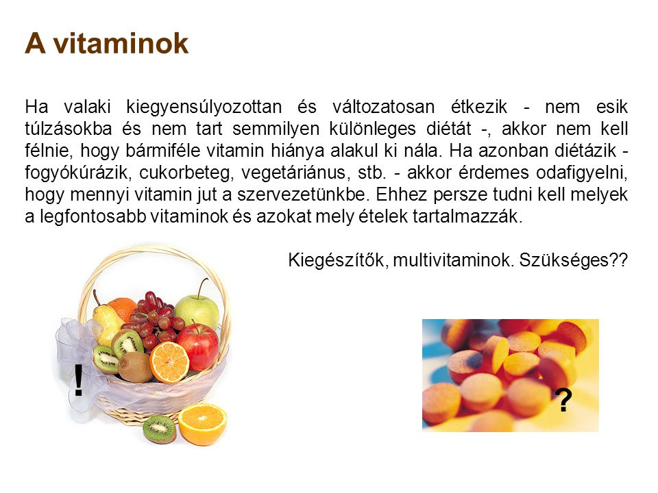 A vitaminok