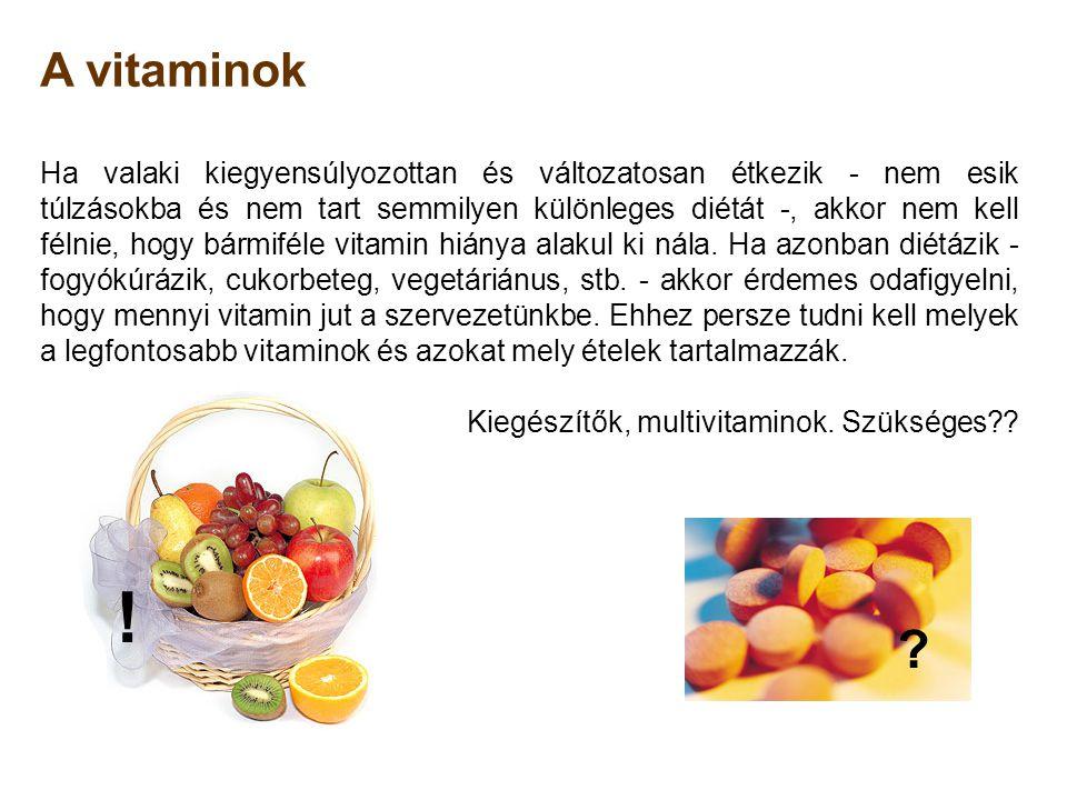 A vitaminok