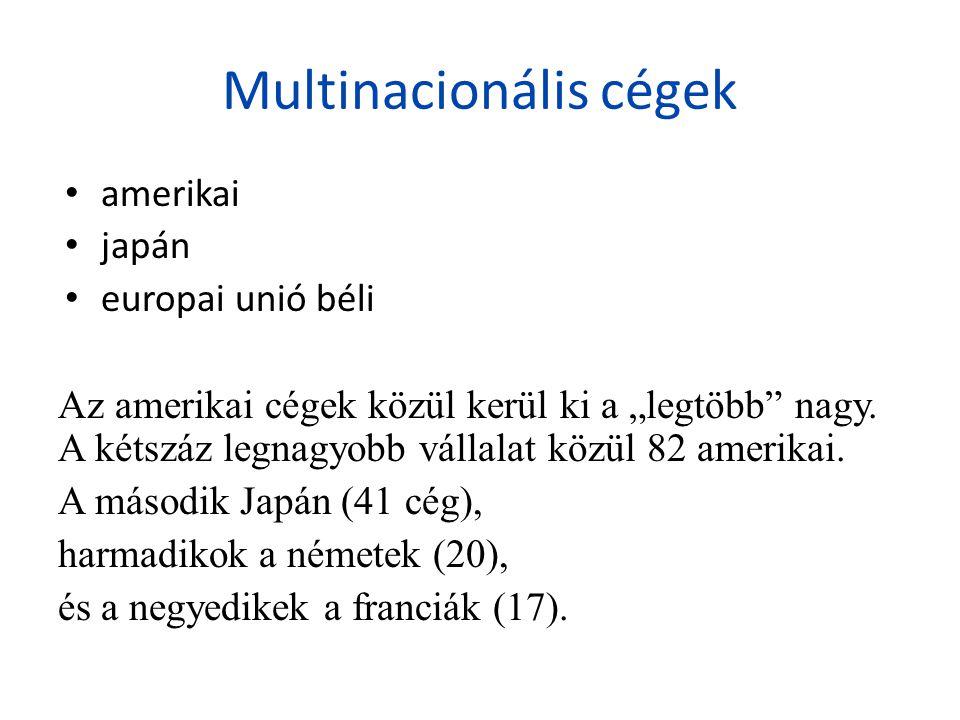 Multinacionális cégek