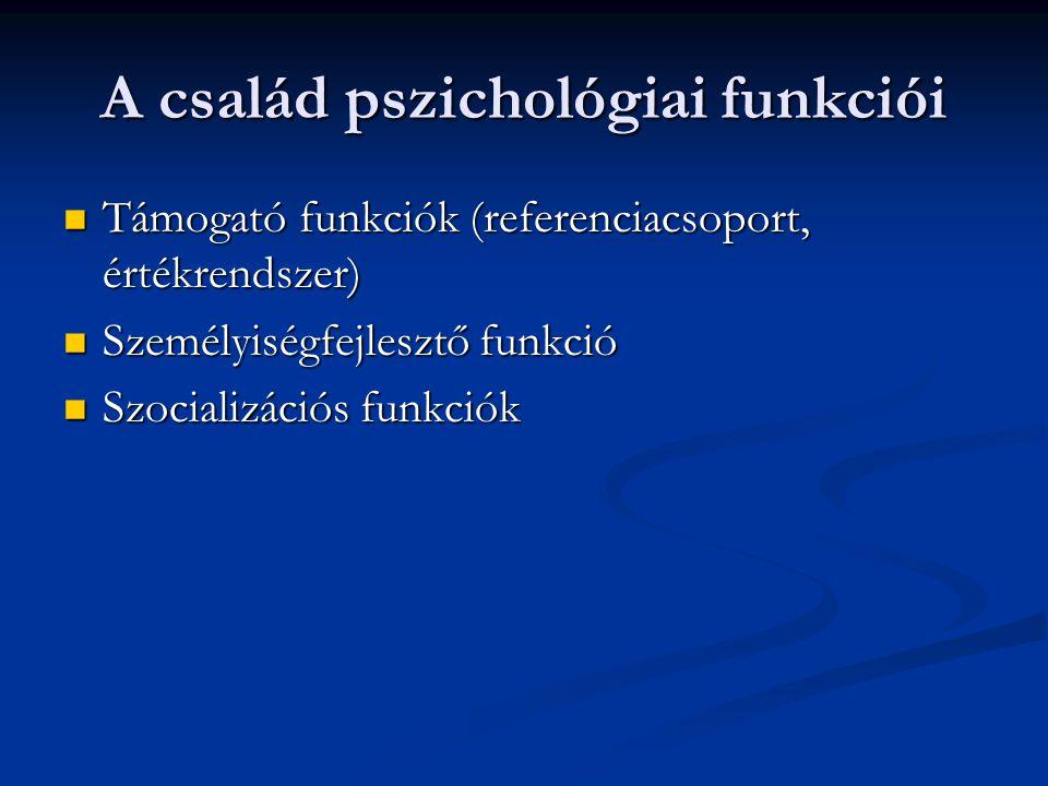 A család pszichológiai funkciói