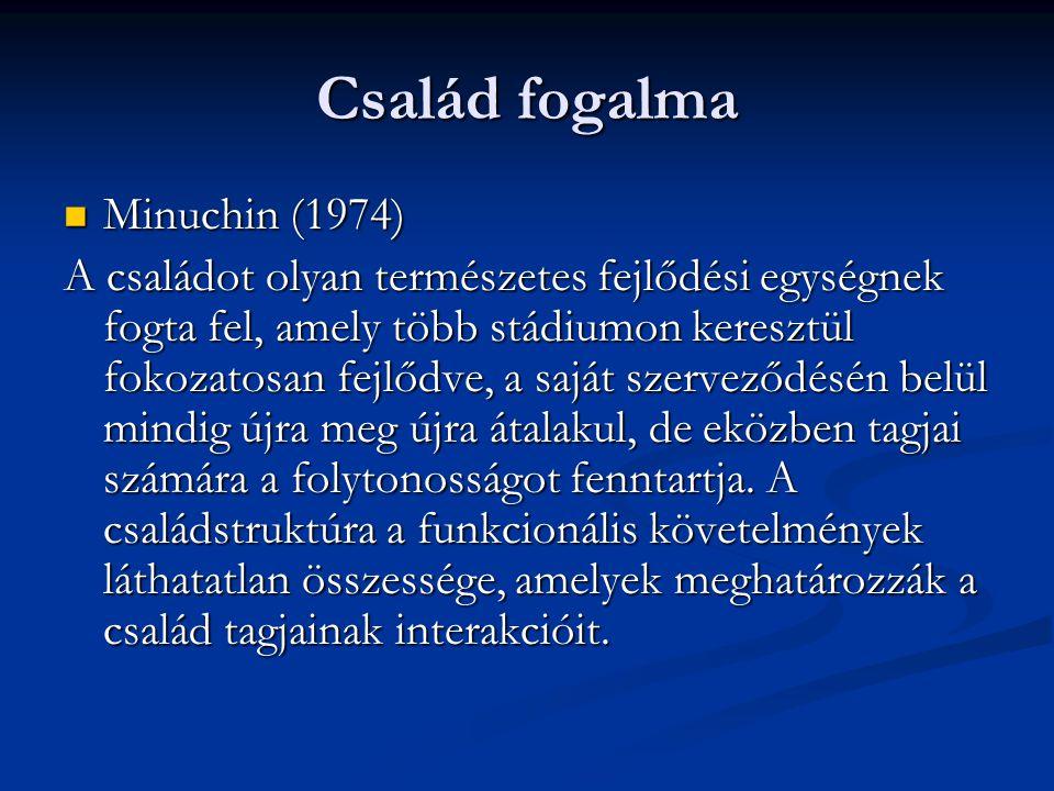 Család fogalma Minuchin (1974)