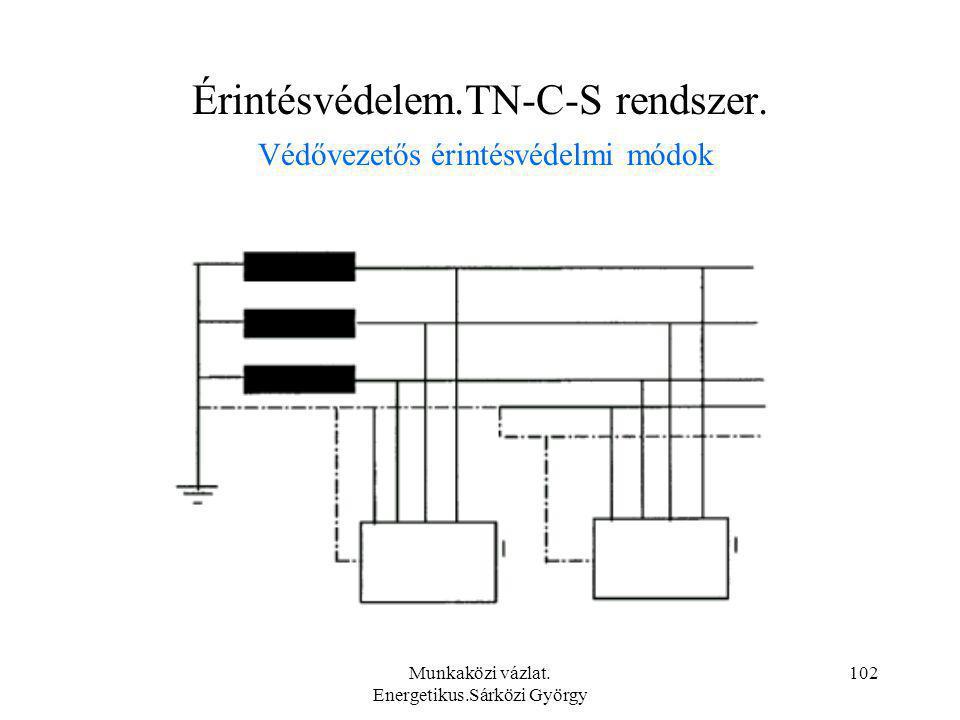 Érintésvédelem.TN-C-S rendszer. Védővezetős érintésvédelmi módok