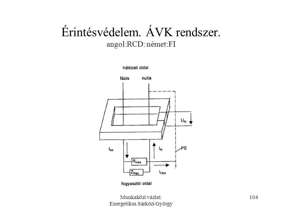 Érintésvédelem. ÁVK rendszer. angol:RCD: német:FI