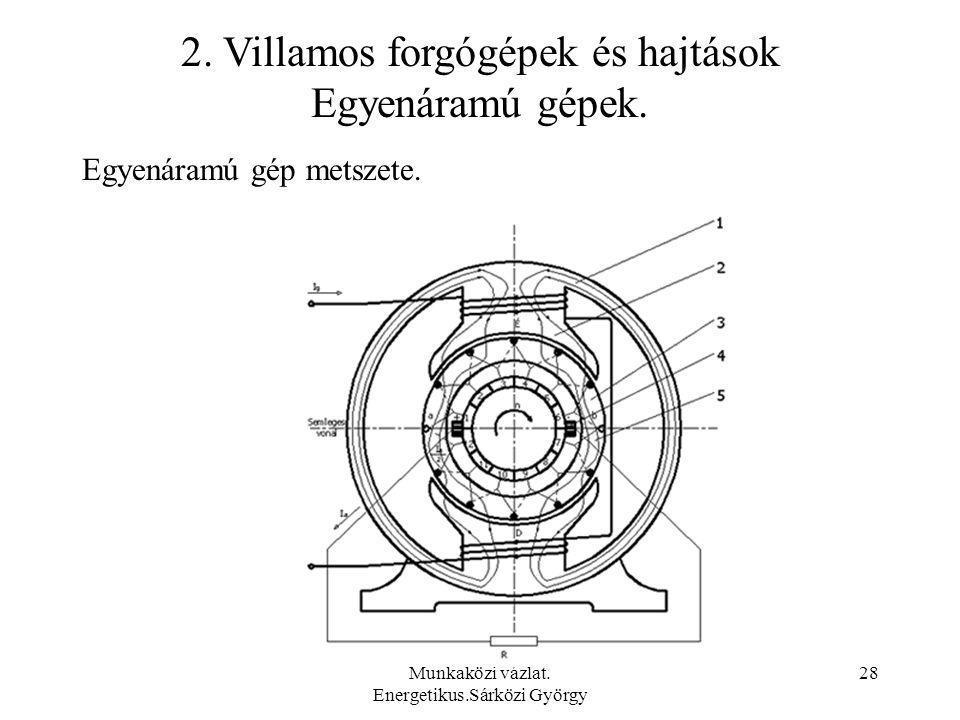 2. Villamos forgógépek és hajtások Egyenáramú gépek.