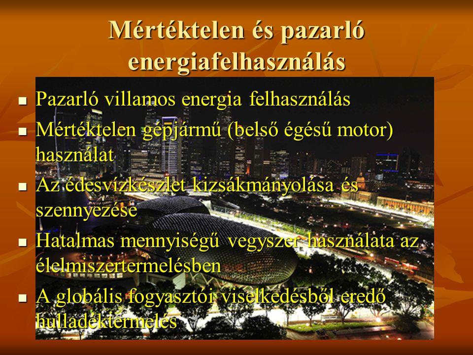 Mértéktelen és pazarló energiafelhasználás