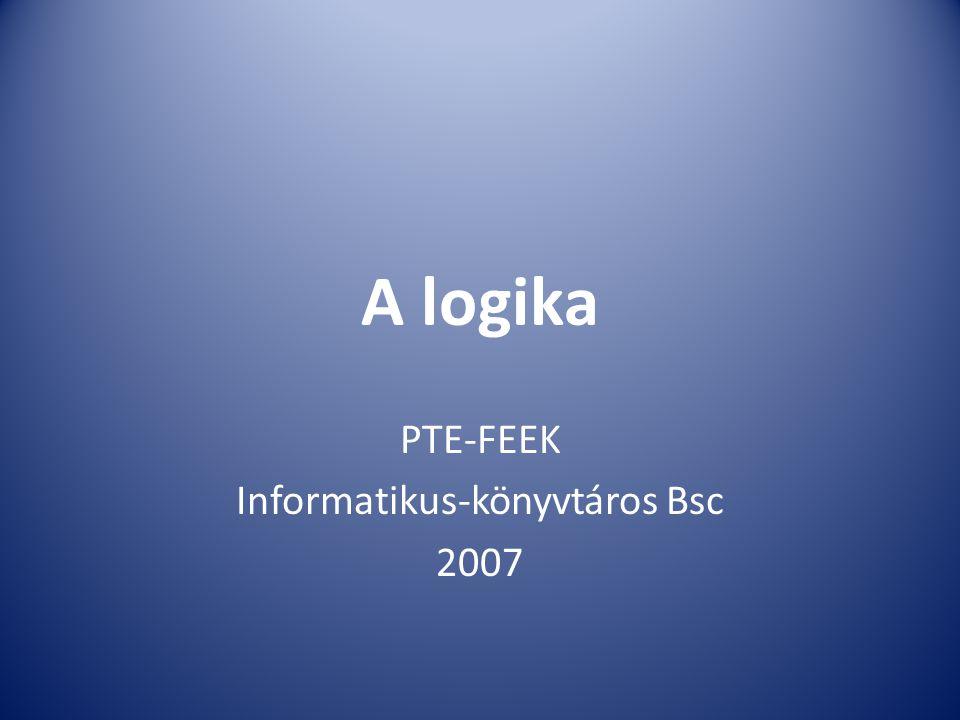PTE-FEEK Informatikus-könyvtáros Bsc 2007