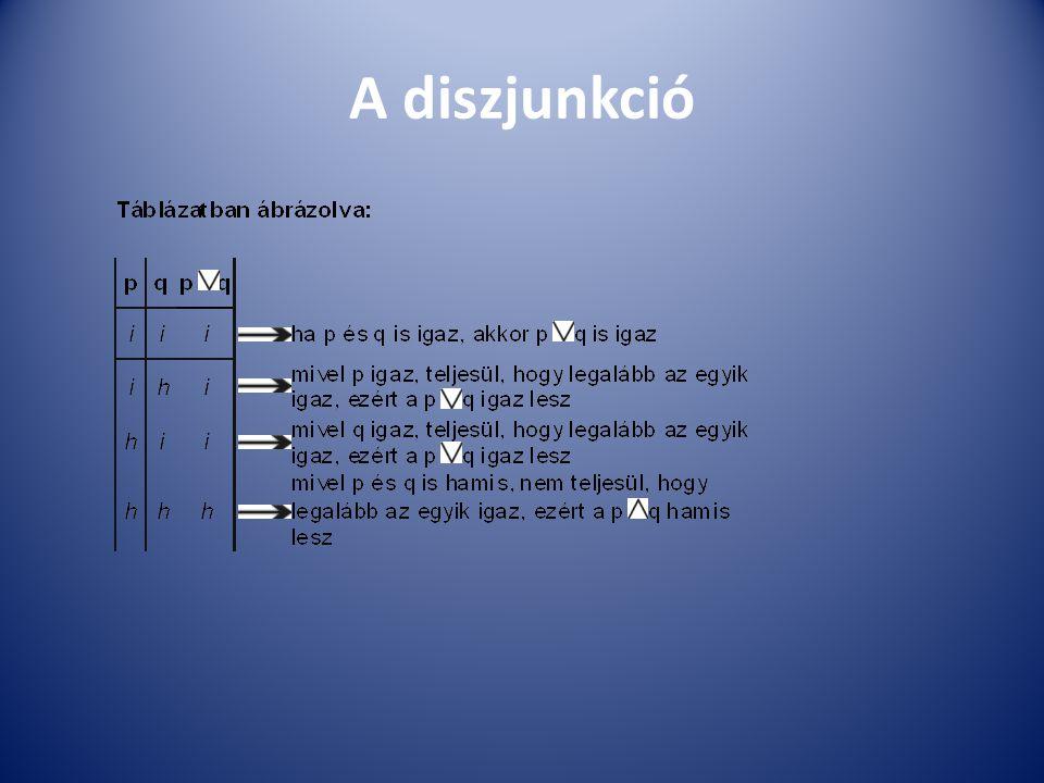 A diszjunkció