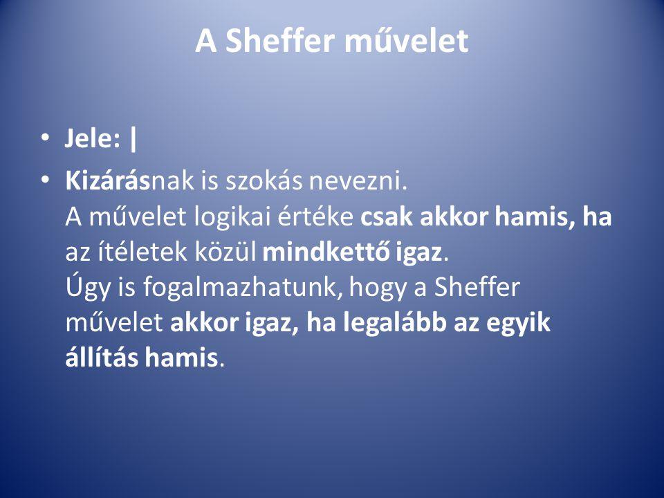 A Sheffer művelet Jele: |