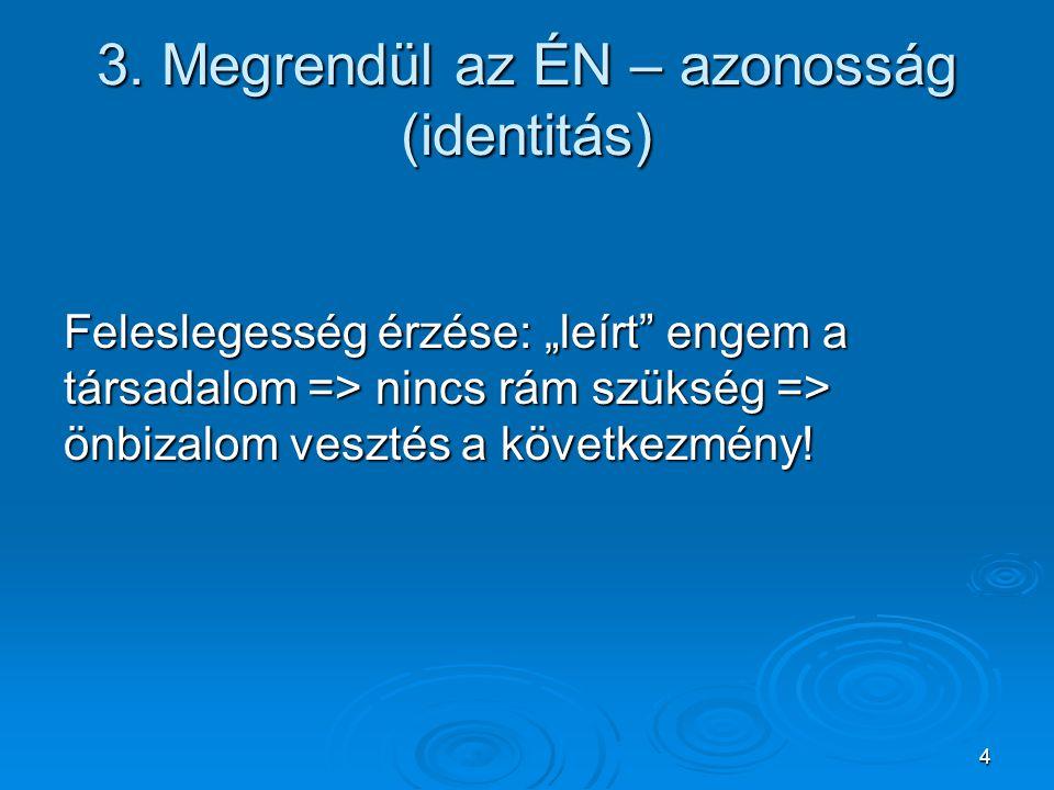 3. Megrendül az ÉN – azonosság (identitás)