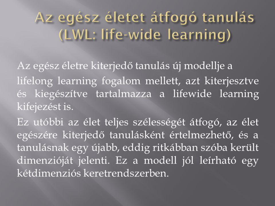 Az egész életet átfogó tanulás (LWL: life-wide learning)
