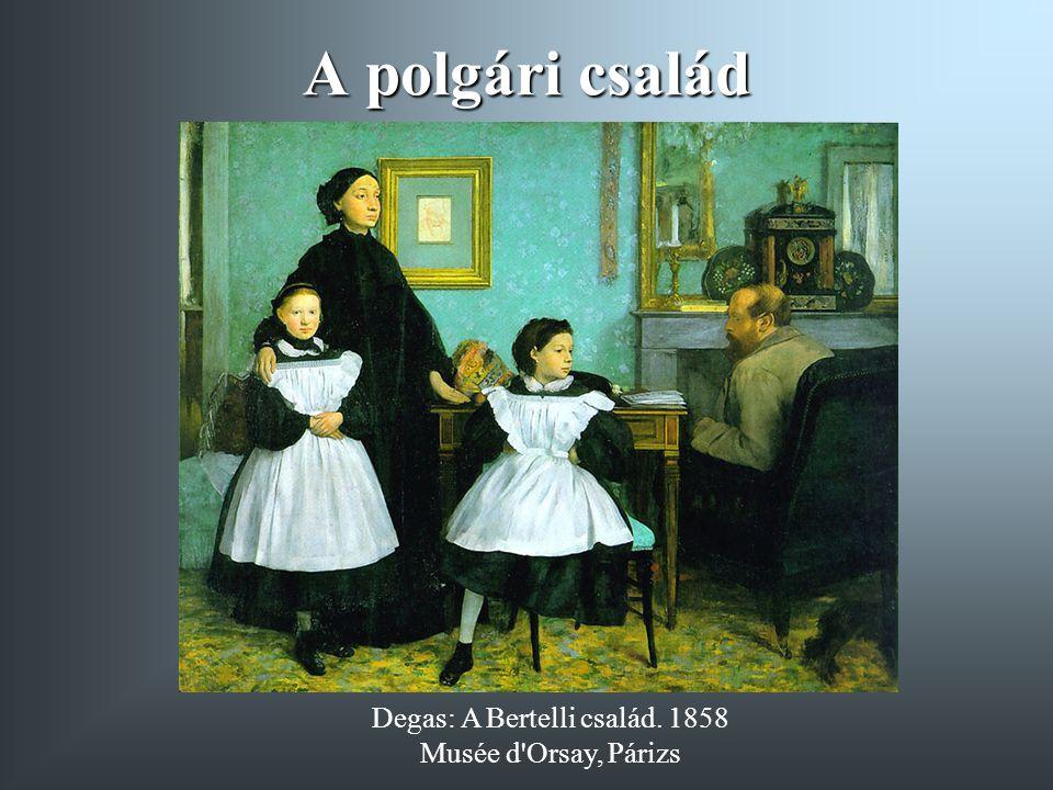 Degas: A Bertelli család. 1858