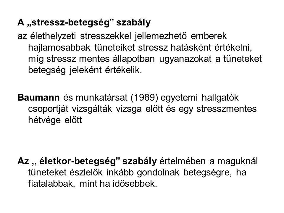 """A """"stressz-betegség szabály"""