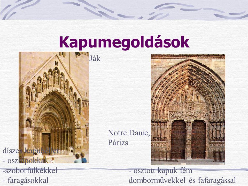 Kapumegoldások Ják Notre Dame, Párizs