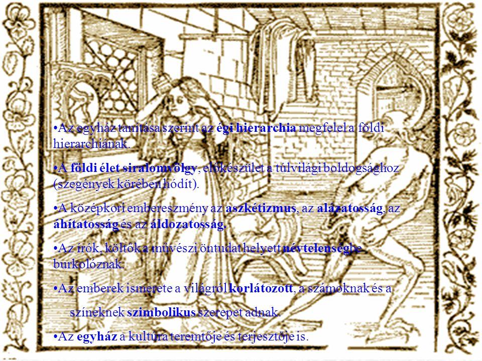 Az egyház tanítása szerint az égi hierarchia megfelel a földi hierarchiának.