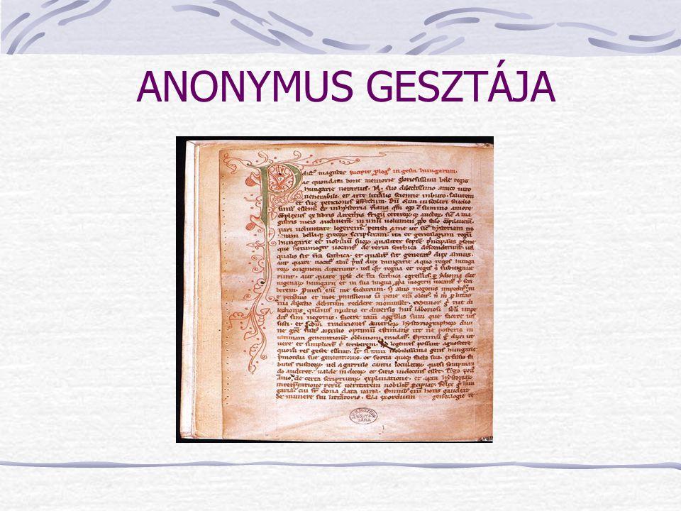 ANONYMUS GESZTÁJA