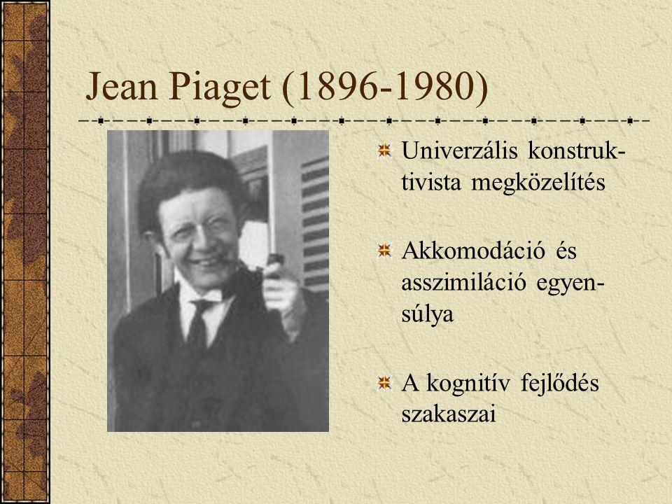 Jean Piaget (1896-1980) Univerzális konstruk-tivista megközelítés