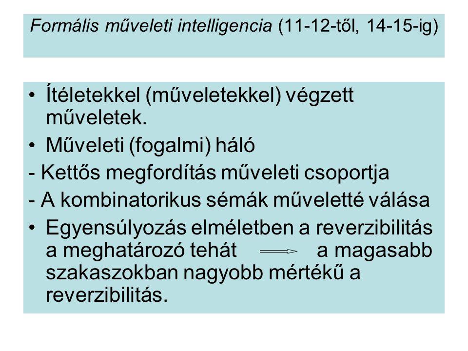 Formális műveleti intelligencia (11-12-től, 14-15-ig)