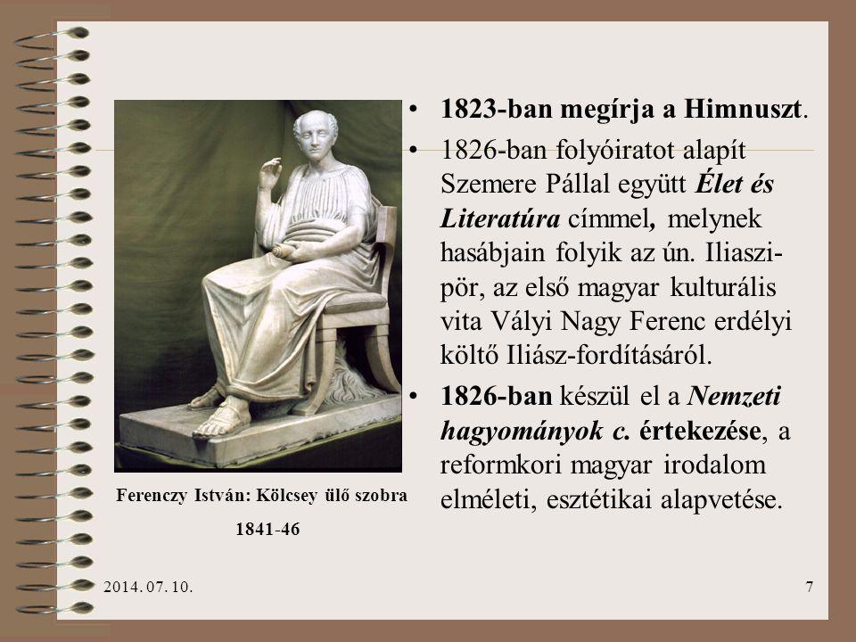 1823-ban megírja a Himnuszt.
