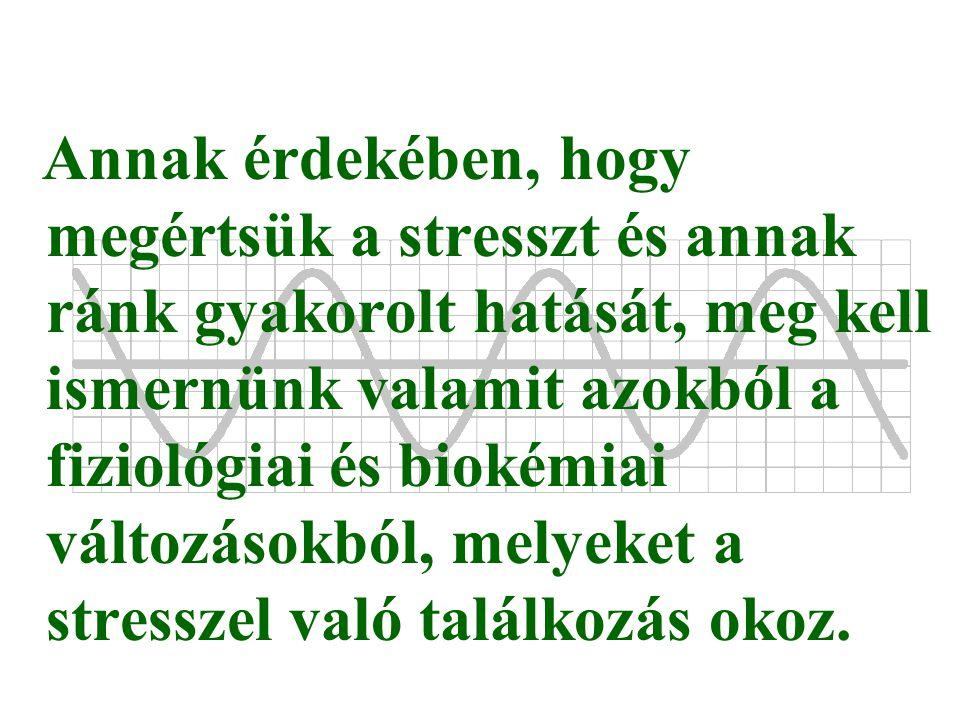 Annak érdekében, hogy megértsük a stresszt és annak ránk gyakorolt hatását, meg kell ismernünk valamit azokból a fiziológiai és biokémiai változásokból, melyeket a stresszel való találkozás okoz.