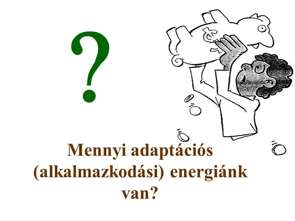 Mennyi adaptációs (alkalmazkodási) energiánk van