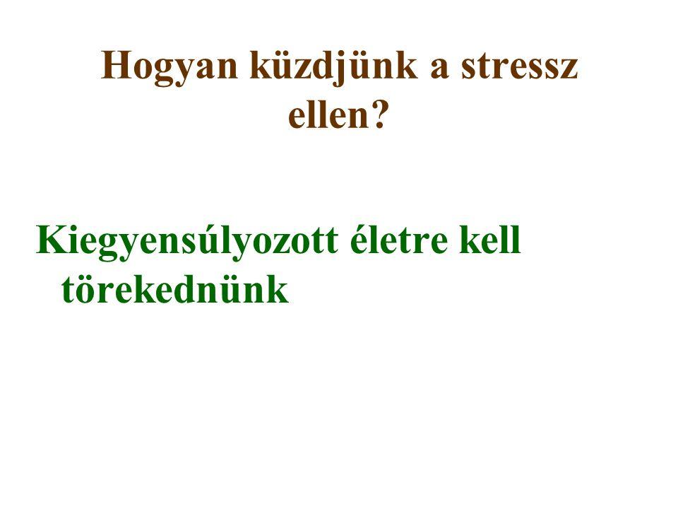 Hogyan küzdjünk a stressz ellen