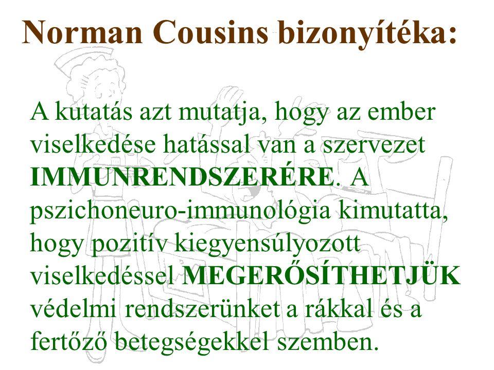 Norman Cousins bizonyítéka:
