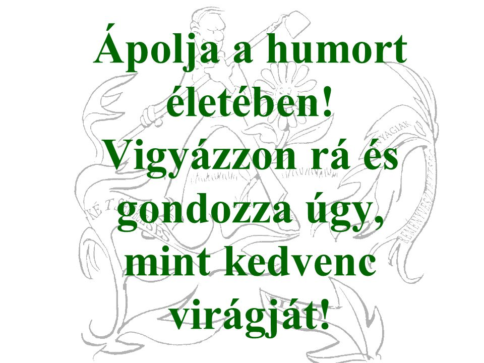 Ápolja a humort életében