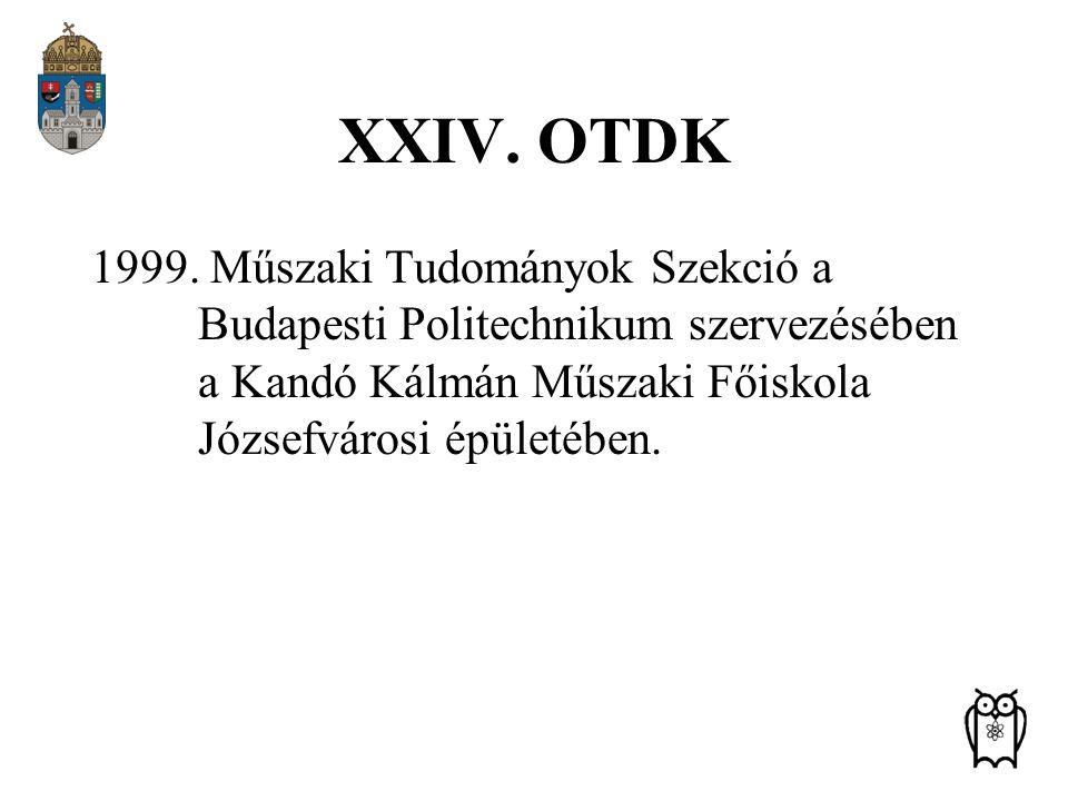 XXIV. OTDK 1999.