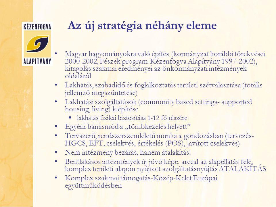 Az új stratégia néhány eleme