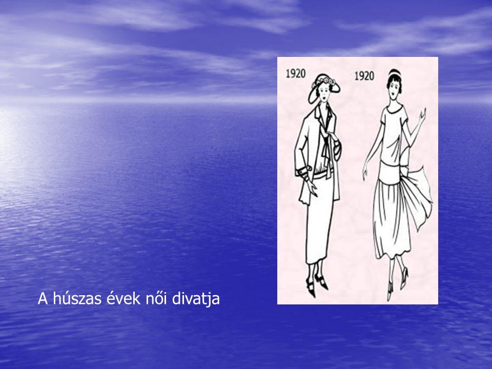 A húszas évek női divatja