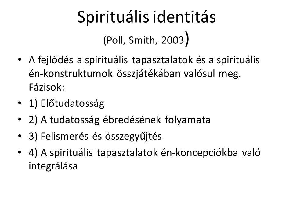 Spirituális identitás (Poll, Smith, 2003)