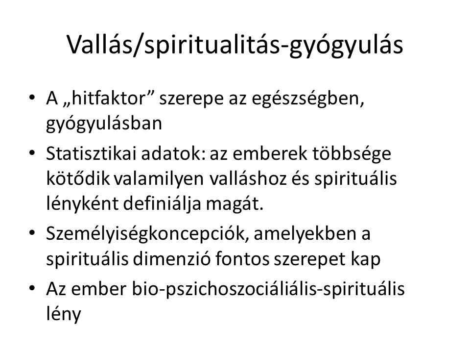 Vallás/spiritualitás-gyógyulás