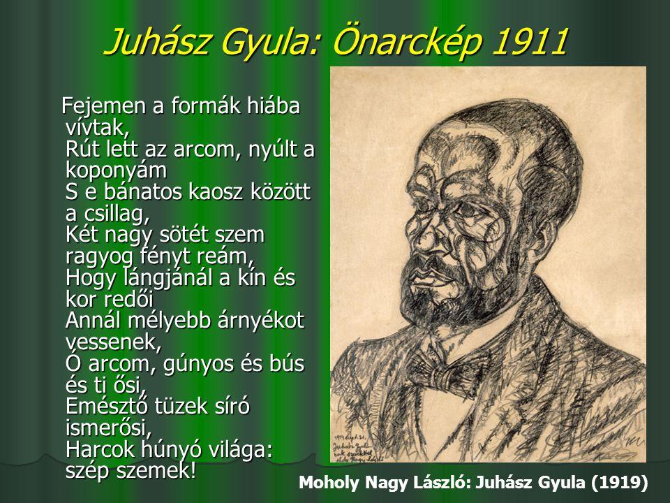 Juhász Gyula: Önarckép 1911