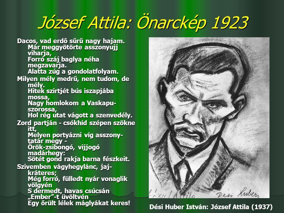 József Attila: Önarckép 1923