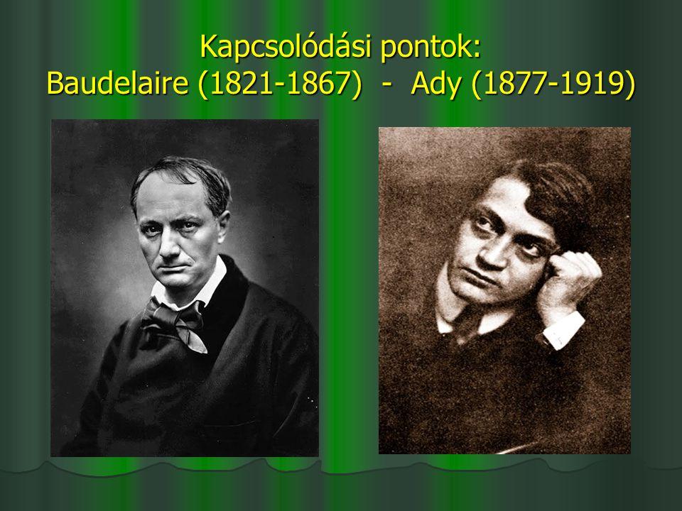 Kapcsolódási pontok: Baudelaire (1821-1867) - Ady (1877-1919)