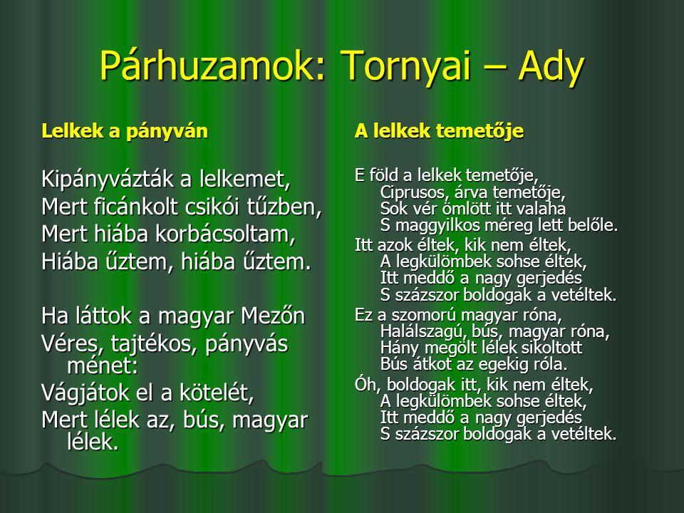 Párhuzamok: Tornyai – Ady